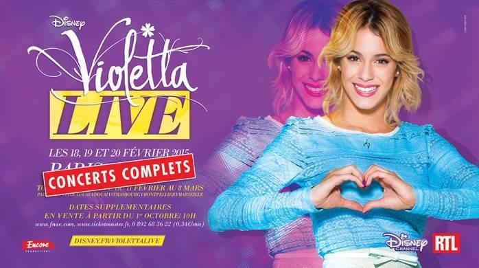Nouvelles dates Violetta Live !