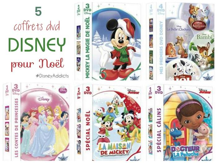 5 coffrets dvd Disney pour Noël
