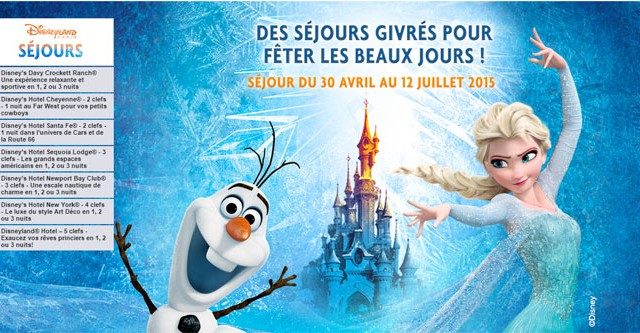 Vente privée Disneyland paris printemps été