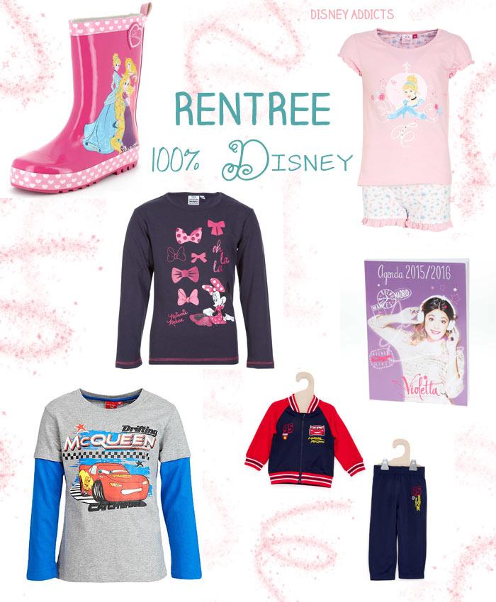 Mode Disney pour la rentrée des classes