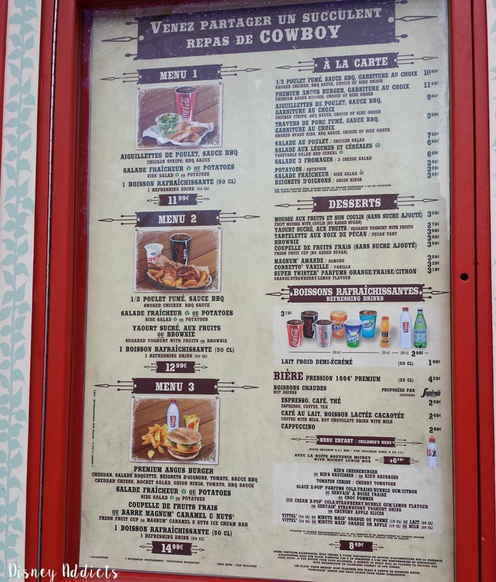 Où manger à DIsneyland Paris ? Cowboy Cookout Barbecue