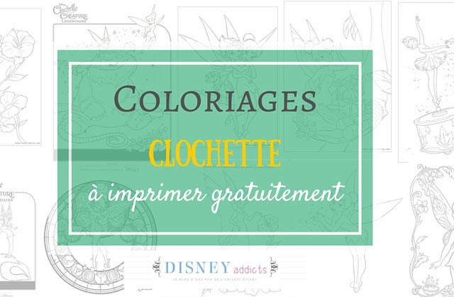 Coloriage Clochette à imprimer gratuitement