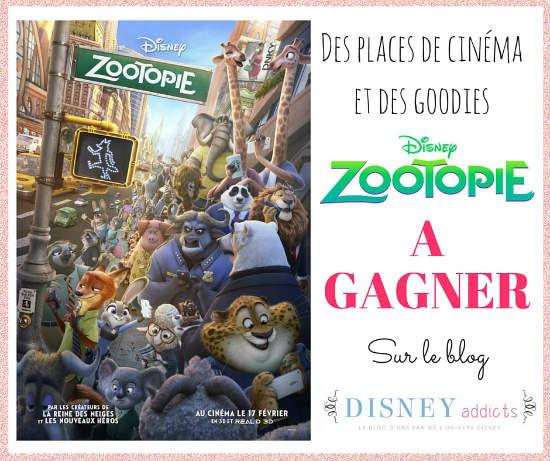 Zootopie places de ciné et goodies à gagner