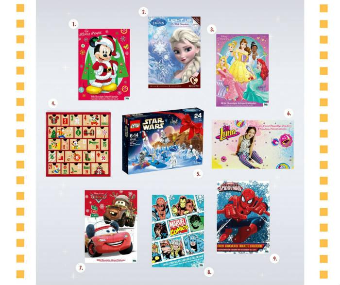 Les Calendriers de l'Avent 2016 avec Disney, Marvel et Star Wars !