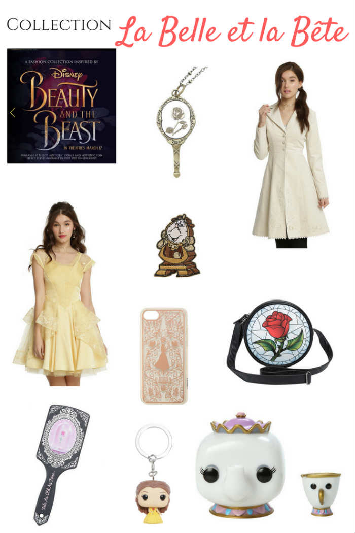 Collection Hot Topic La Belle et la Bête de Disney