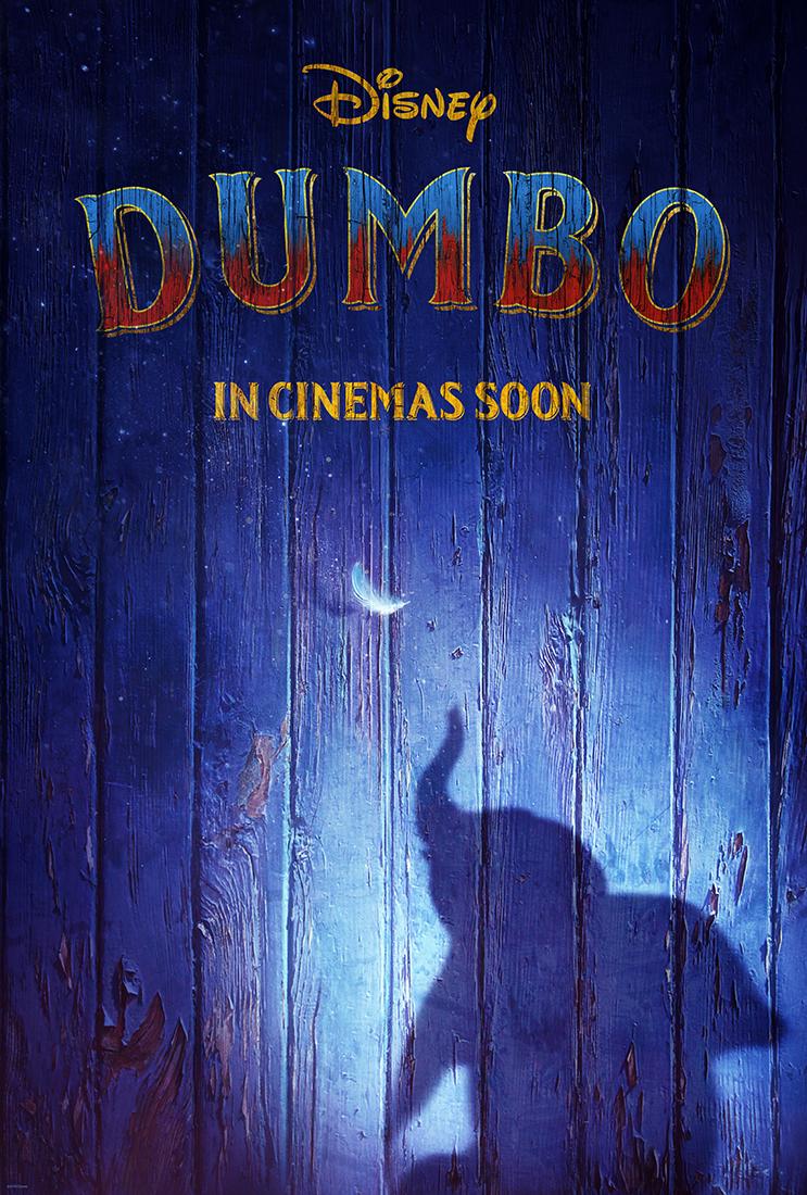 Dumbo par Tim Burton, affiche du film