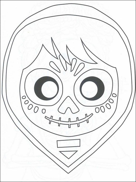 Coloriages Coco Pour Halloween Disney Addicts