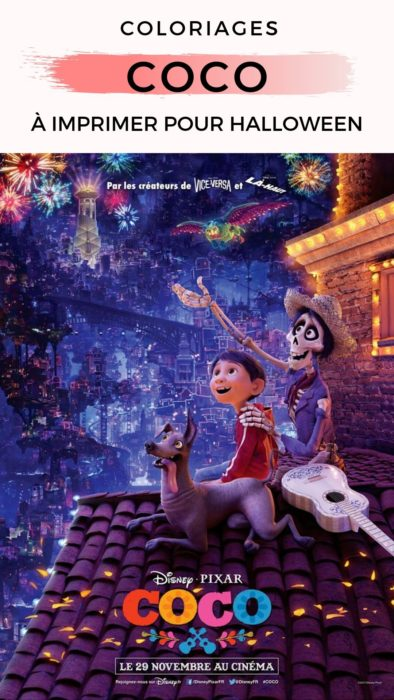 Coloriages COCO Disney Pixar à imprimer pour les enfants pour Halloween #coco #coloriages #disney #pixar #
